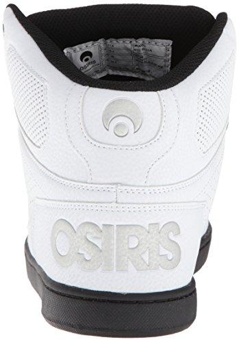 Osiris Mens Nyc 83 Clk Scarpe Da Skate Bianco / Nero / Argento