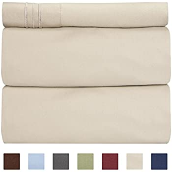 Twin Sheet Set - 3 Piece - College Dorm Room Bed Sheets - Hotel Luxury Bed Sheets - Extra Soft Sheets - Deep Pockets - Easy Fit - Breathable & Cooling Sheets - Bed Sheets - Twin - Twin Mattress Sheets