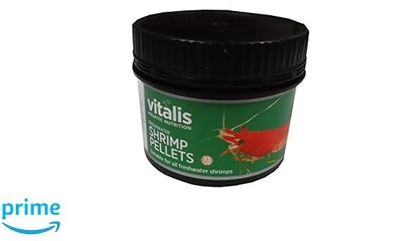 Vitalis dulce Shrimp pellets 60 g 1 mm de diámetro, para agua dulce Camarones: Amazon.es: Productos para mascotas