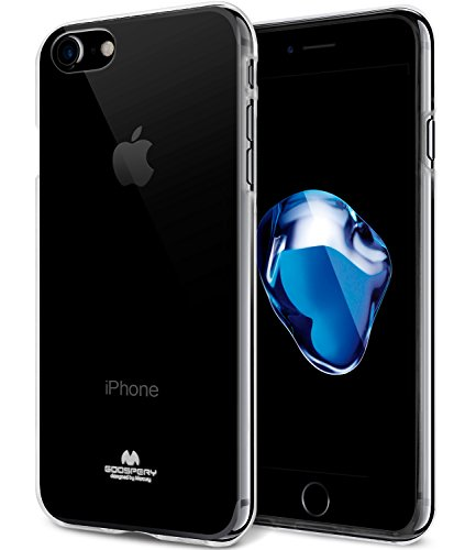 Jelly Cover - iPhone 8 Case & iPhone 7 Case, [Slim Fit] GOOSPERY [Flexible] Pearl Jelly TPU Case [Lightweight] Bumper Cover [Anti-Yellowing] for iPhone 8 & 7 (Clear) IP8-JEL-CLR-NH