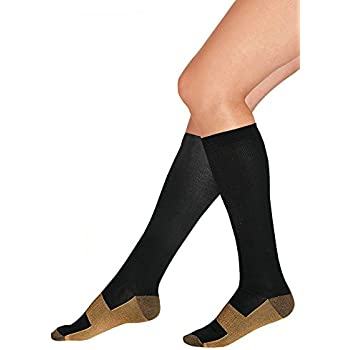f3f471c8a Copper Infused Compression Socks 5 Pack - 5 Days of Foot Comfort and Support  with improved