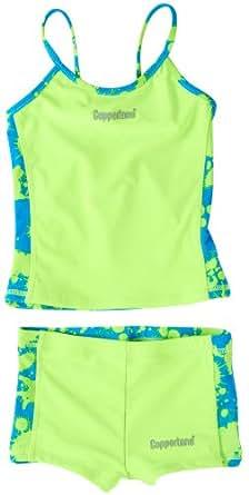 Coppertone Girls Tankini UV Protection Bathing Suit Two Piece Shorts Swimwear