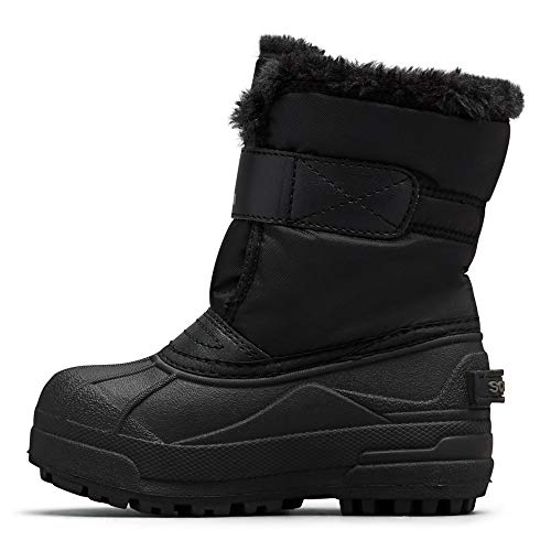 Sorel - Youth Snow Commander Snow Boots for Kids, Black/Charcoal, 8 M US