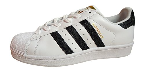adidas originals superstar womens trainers sneakers shoes (US 5, white black S79418)