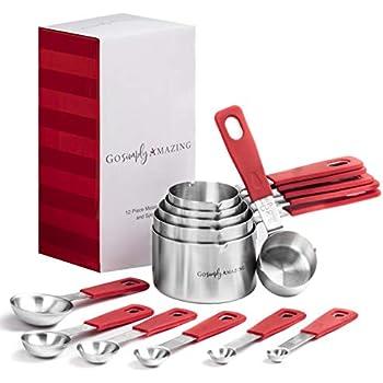 Paula Deen Signature Pantryware 4 Piece Measuring Cup Set in Red