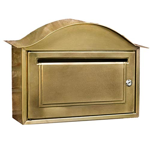 (Naiture Locking Wall-Mount Mailbox in Antique Brass )