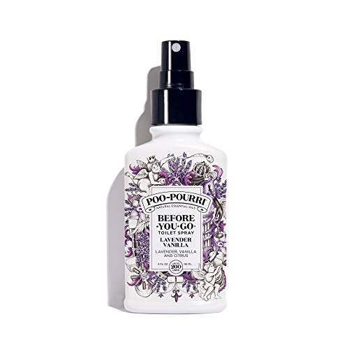 Poo-Pourri Lavender Vanilla Scent Before-You-Go Toilet Spray 4 oz Bottle, 4 -