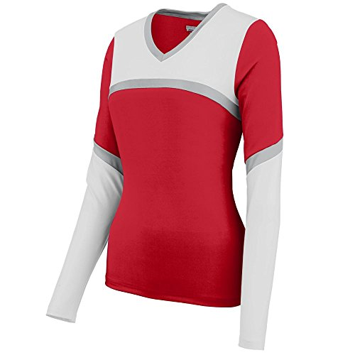 Augusta Sportswear Womens Rise UP Shell S Red/White/Metallic Silver