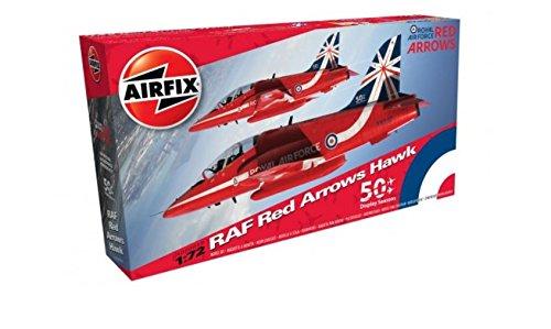 Airfix A02005B BAE Red Arrows Hawk 1:72 Military Aircraft Plastic Model -