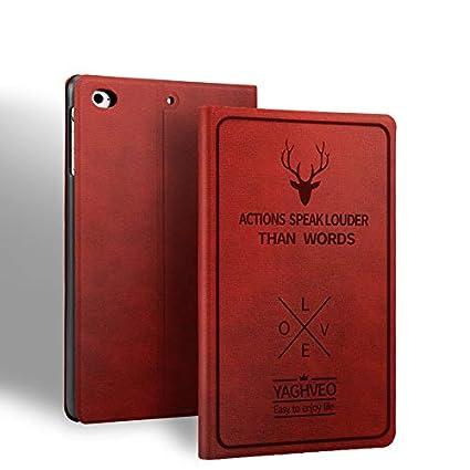 ProElite Smart Deer Flip case Cover for Apple iPad Mini 4/ Mini 5  7.9 inch   Wine Red  Bags,Cases   Sleeves