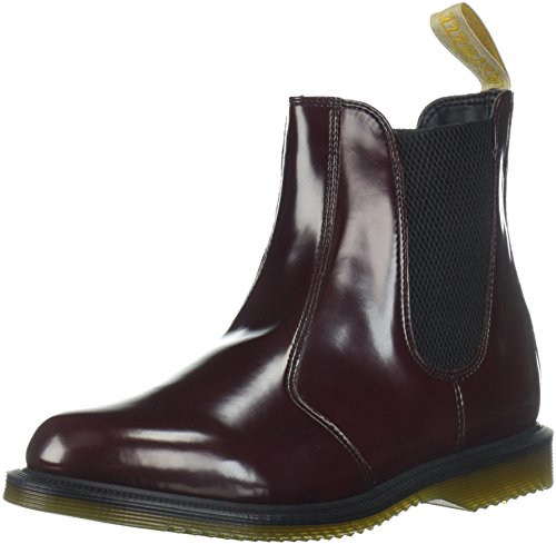 Dr W Stivale Smooth Cherry Flora Polished Red Martens PHqrFP