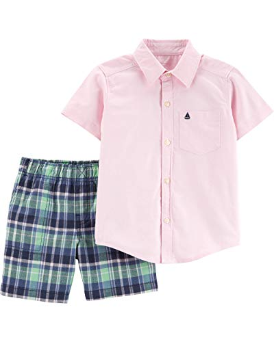 - Carter's Baby Boys' 2 Pc Playwear Sets (5T, Pink/Navy)