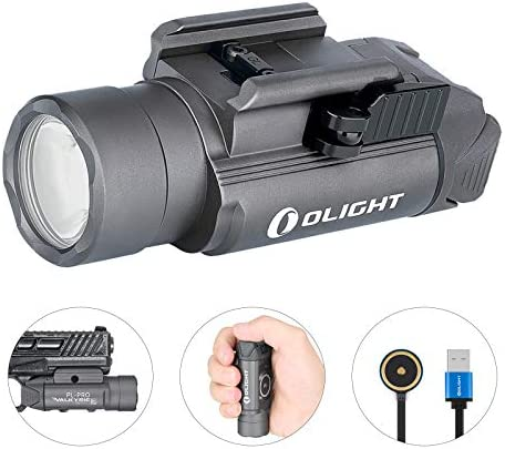 SKYBEN Olight PL-PRO Valkyrie 1500 Lumens NW LED Magnetic Rechargeable Tactical Flashlight with Rail Adapter and Built-in Battery Gunmetal Grey