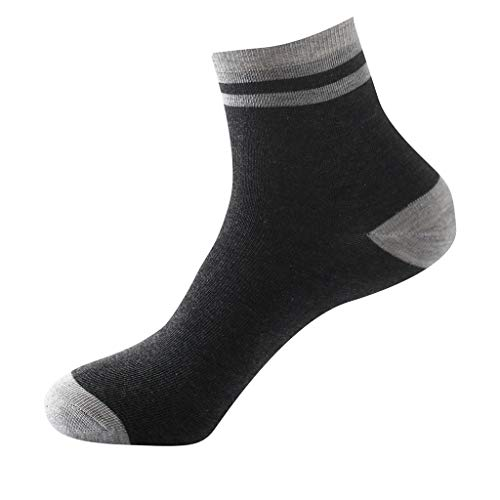 1Pair Mens Non Elastic 100% Pure Cotton Socks Comfort Soft Grip Diabetic (Gray) by Levacy Sports & Outdoors (Image #1)