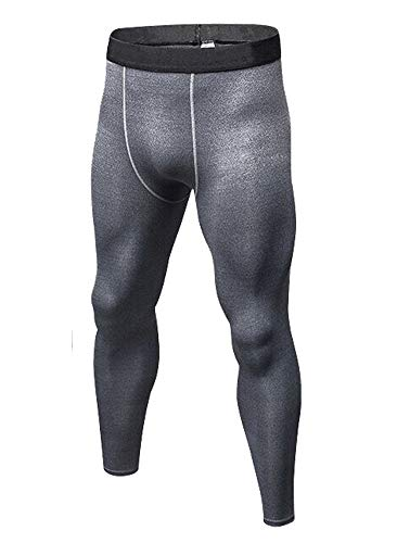 CVVTEE Boys Compression Pants Base Layers Soccer Hockey Tights Athletic Leggings Thermal for Kids (10, Gray) Base Layer Athletic Pant