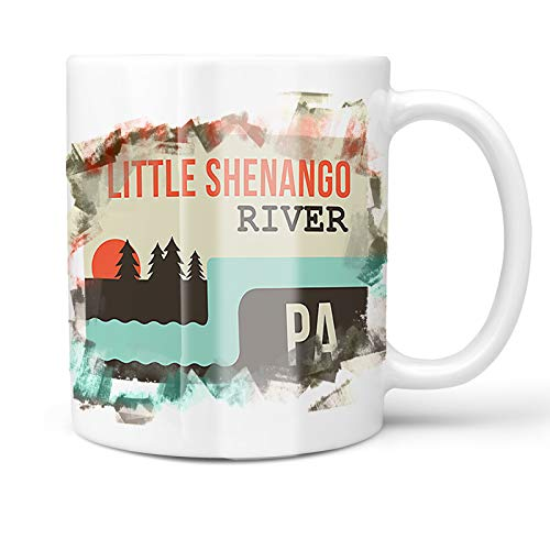 - Neonblond 11oz Coffee Mug USA Rivers Little Shenango River - Pennsylvania with your Custom Name