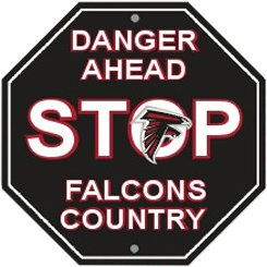 (Atlanta Falcons Plastic Stop Sign