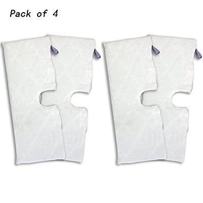 Agile-shop 4pcs Replacement XL Microfiber Cleaning Pads for Shark Pocket Steam Mop XLT3501