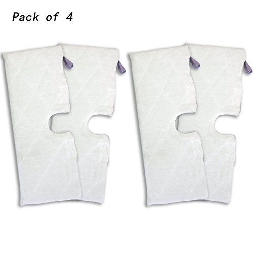 Agile-shop 4pcs Replacement XL Microfiber Cleaning Pads for Shark Pocket Steam Mop XLT3501 by Agile-shop