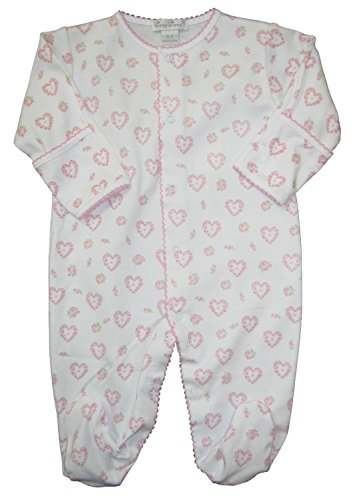 Kissy Kissy Baby-Girls Infant Fleur De L'Amour Print Footie-White With Pink-6-9 Months - Kissy Kissy Bubble