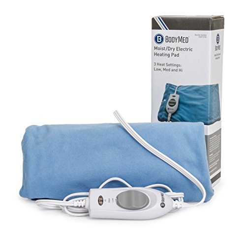 BodyMed Moist & Dry Heating Pad - Controlled Heat For Temporary Pain Relief From Muscle Strains and Sprains, Joint Pain and Inflammation