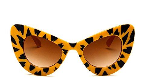 para Sol Gafas 145mm de Black Leopard Mariposa con Mujer amarillo JxucTo Exteriores Marco Viajes UV400 de 8fnqwfCB
