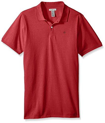 Calvin Klein Big Boys' Solid Pique Polo, Dkredht, X-Large - Velvet Shirt Big