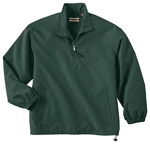 North End Mens MICRO Plus 1/2-Zip Windshirt with Teflon. 88044 - X-Large - Alpine Green