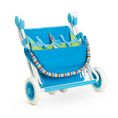 Amazon.com: American Girl Bitty Twins Striped Stroller: Toys & Games