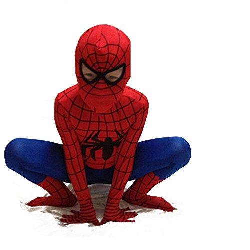 Besties shop Superhero Spiderman Skin Cosplay Costume Suit - Red & Black