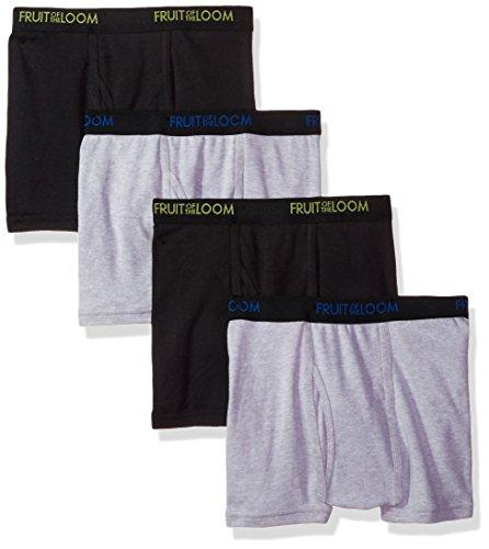 Fruit of the Loom Men's 4-Pack Premium Dri-Stretch Short Leg Boxer Brief, Assorted, Large