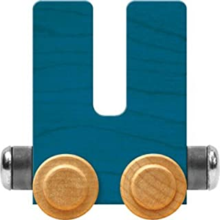 product image for Maple Landmark NameTrain Bright Letter Car U - Made in USA (Blue)