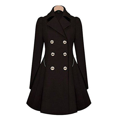 Double Breasted Long Sleeve Coat - 9