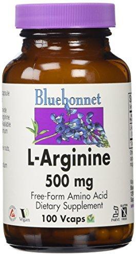 Bluebonnet L-Arginine 500 mg Vitamin Capsules, 100 Count by Blue Bonnet