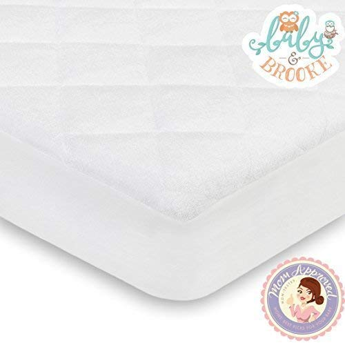 Organic Crib Mattress Cover Pad – Breathable Pad Fits