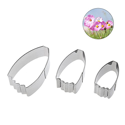 JD Million shop 3Pcs/Set Cosmos Bipinnata Flower Petal Calliopsis Cutter Fondant Cake Mould Wedding Cake Decorating Tools form for (Sugar Cube Halloween Costume)