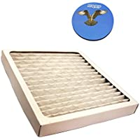 HQRP Filter for Hamilton Beach 04381 True Air Allergen Reducing Filter plus HQRP Coaster