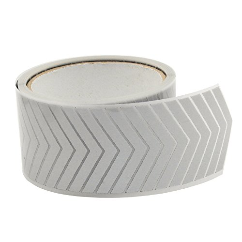 2 Safety Silver Reflective Iron on Fabric Clothing Tape Heat Transfer Vinyl Film DIY Arrow M01 (2 x 10ft)