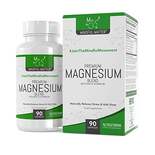 Magnesium Malate Supplement Blend HIGH Strength 330mg by Mindful Matter | GLYCINATE TAURATE + Vitamin B6 & Zinc | 90…