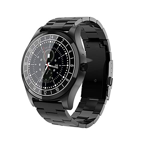 New Men Business Bluetooth Smart Watch Wristwatch Heart Rate Monitor Blood Pressure Fitness Tracker Smartwatch for Android iPhone Windows (Black)