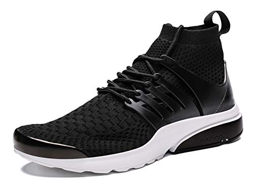 - Kanarder Men's Walking Shoes Athletic Casual Mesh Comfortable High-Top Sneaker Black