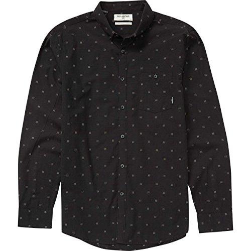 (Billabong Men's All Day Jaquard Long Sleeve Shirt, Black, XL)
