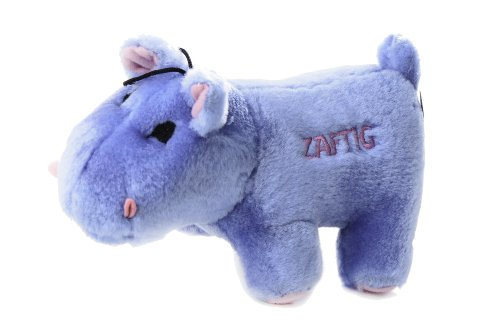 Copa Judaica Chewish Treat Zaftig Hippo Squeaker Plush Dog Toy, 7 by 3 by 4-Inch, Blue
