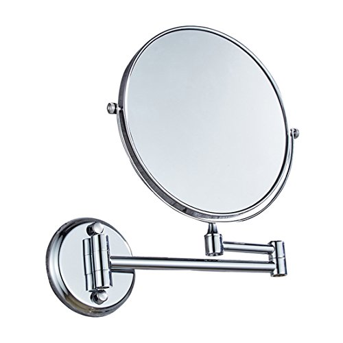 Ysayc Vanity Mirror Double-sided 3x Magnification Wall Mounted Hanging 360° Swivel Bath Spa Hotel Round Bathroom Cosmetic Mirror wall-mounted-mirrors, Silver by Ysayc (Image #5)