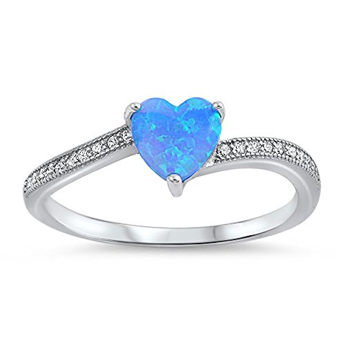 choose your color sterling silver promise ring