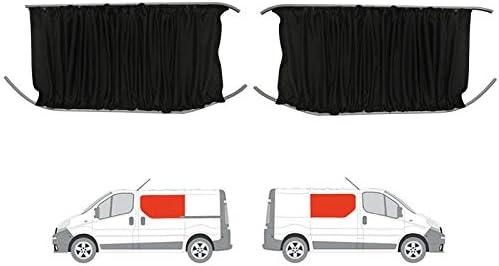 Negro de furgoneta cortinas Kit para puerta corredera mano izquierda y derecha panel: Amazon.es: Coche y moto