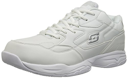 Skechers for Work Men's Felton Shoe, White, 10.5 M US (Best Nursing Shoes Skechers)