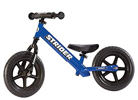 side facing blue strider 12 sport balance bike
