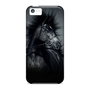 New Style Tpu 5c Protective Case Cover/ Iphone Case - Horse