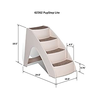 Solvit PetSafe PupSTEP Lite Pet Stairs, Steps for Dogs and Cats, Best for Small to Medium Pets, Non-Fold Design